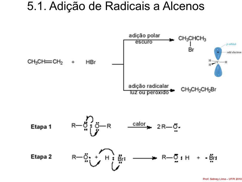 5.1. Adição de Radicais a Alcenos