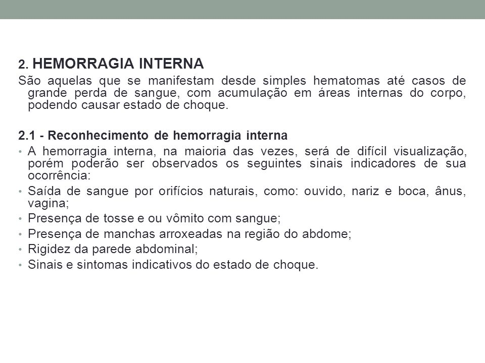2. HEMORRAGIA INTERNA