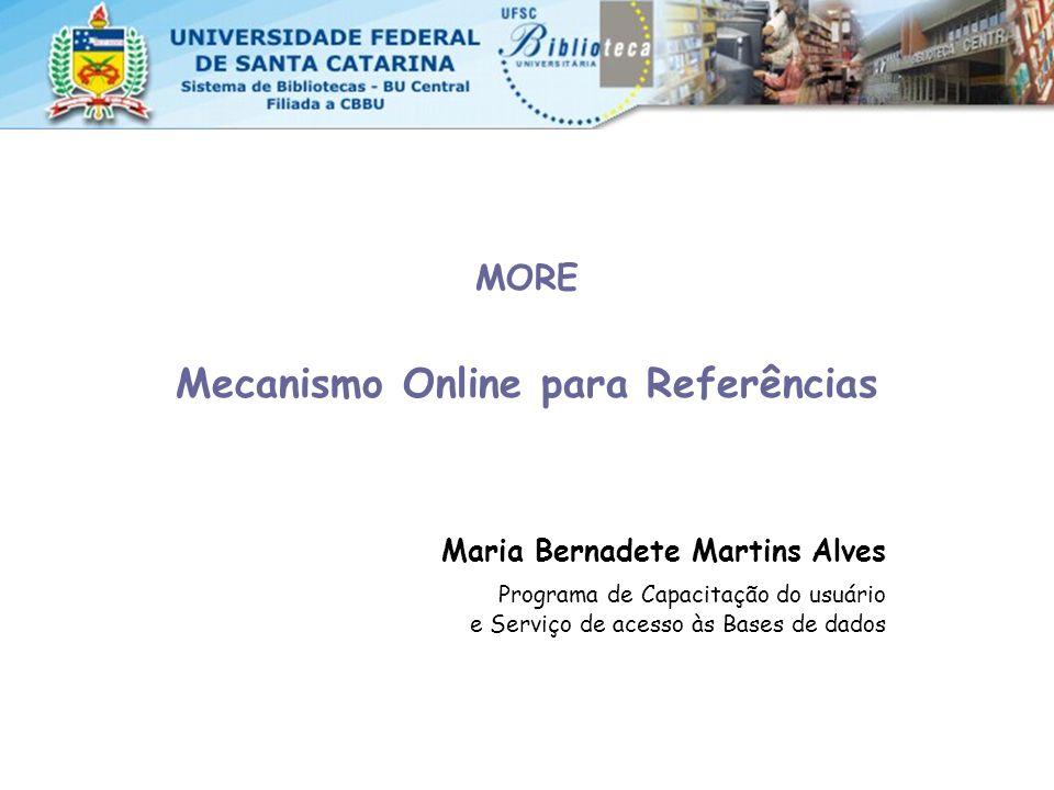 Mecanismo Online para Referências