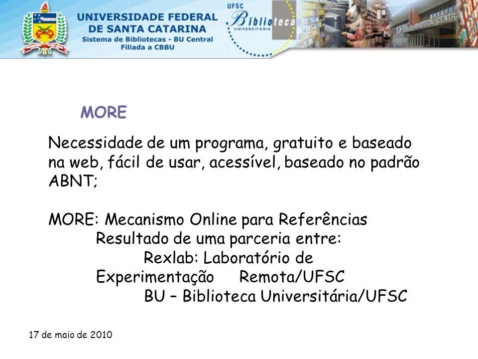 MORE: Mecanismo Online para Referências