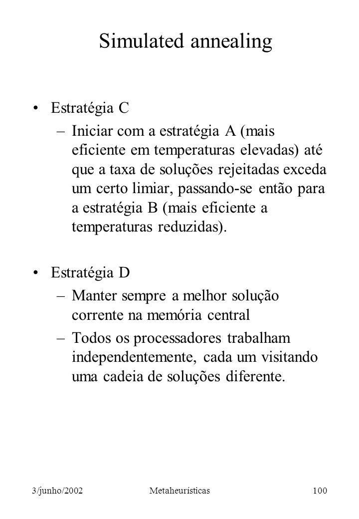 Simulated annealing Estratégia C