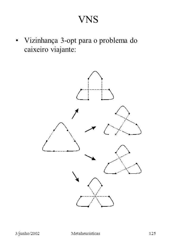 VNS Vizinhança 3-opt para o problema do caixeiro viajante: