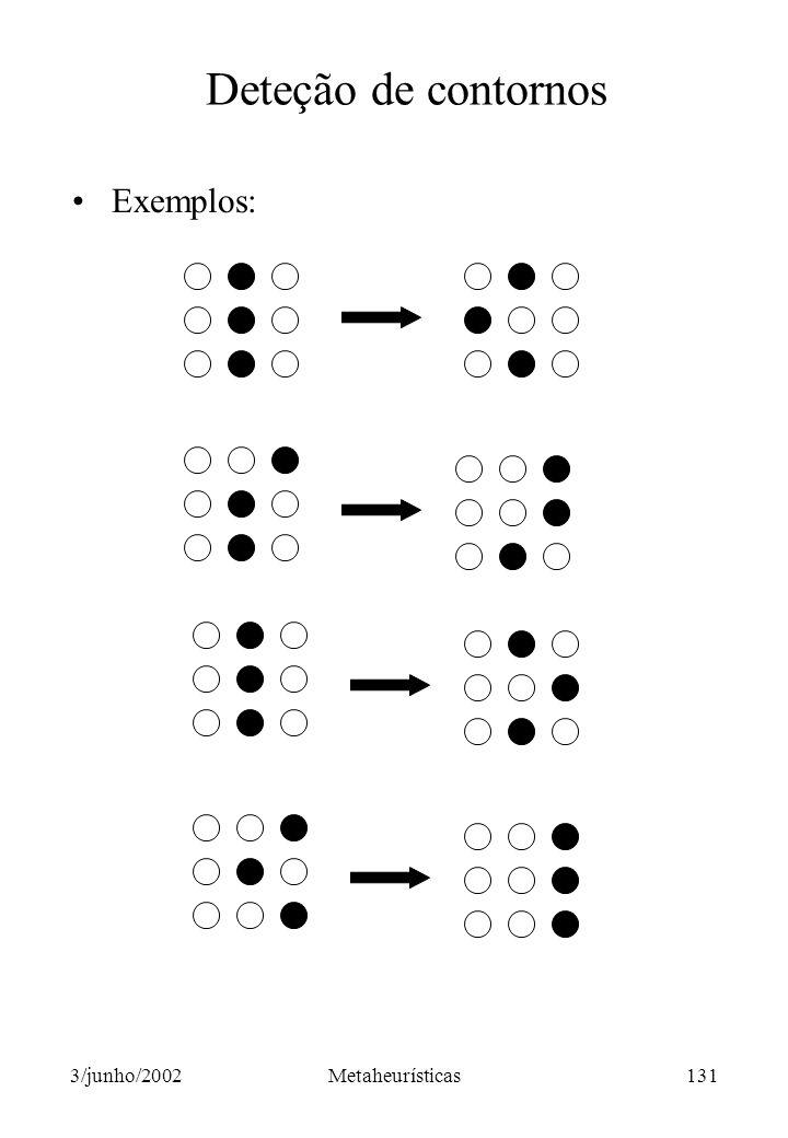 Deteção de contornos Exemplos: 3/junho/2002 Metaheurísticas