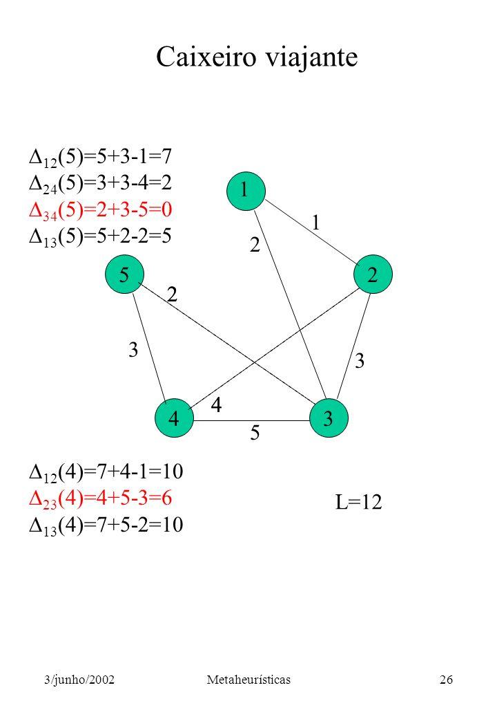 Caixeiro viajante 12(5)=5+3-1=7 24(5)=3+3-4=2 34(5)=2+3-5=0
