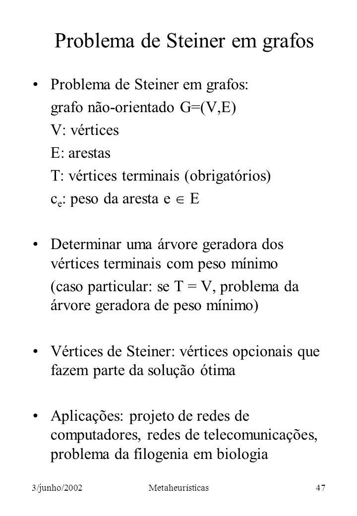 Problema de Steiner em grafos