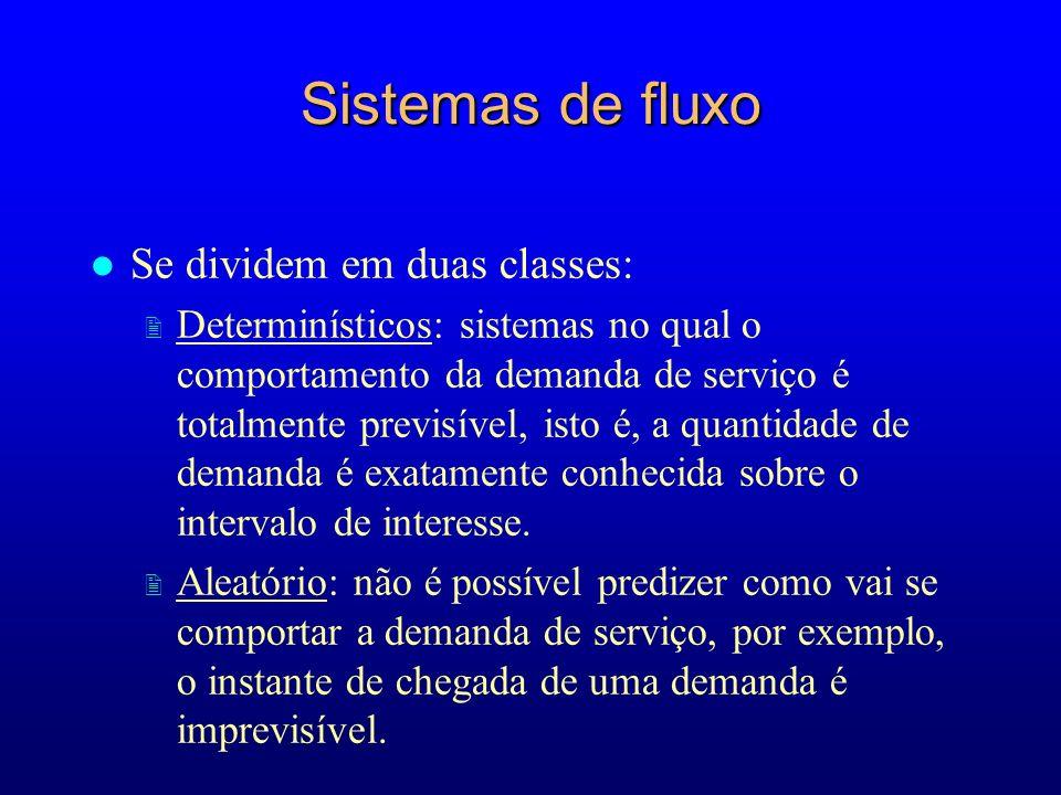 Sistemas de fluxo Se dividem em duas classes: