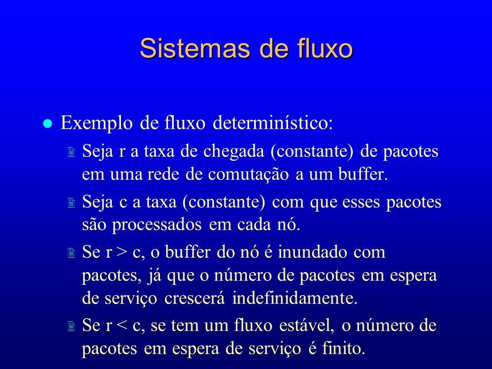 Sistemas de fluxo Exemplo de fluxo determinístico: