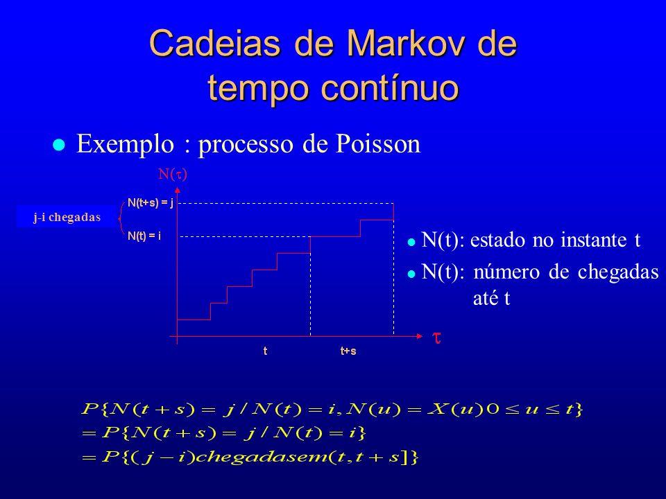 Cadeias de Markov de tempo contínuo