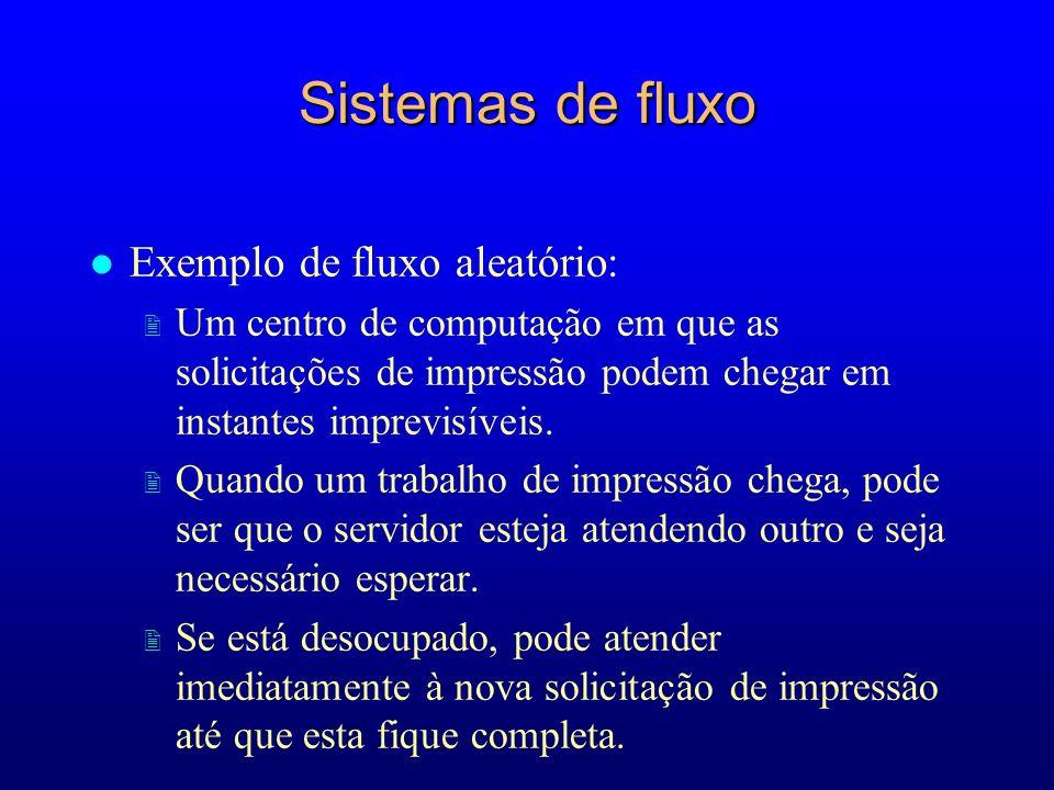 Sistemas de fluxo Exemplo de fluxo aleatório: