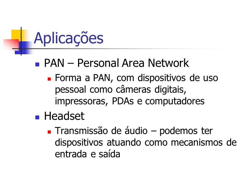 Aplicações PAN – Personal Area Network Headset