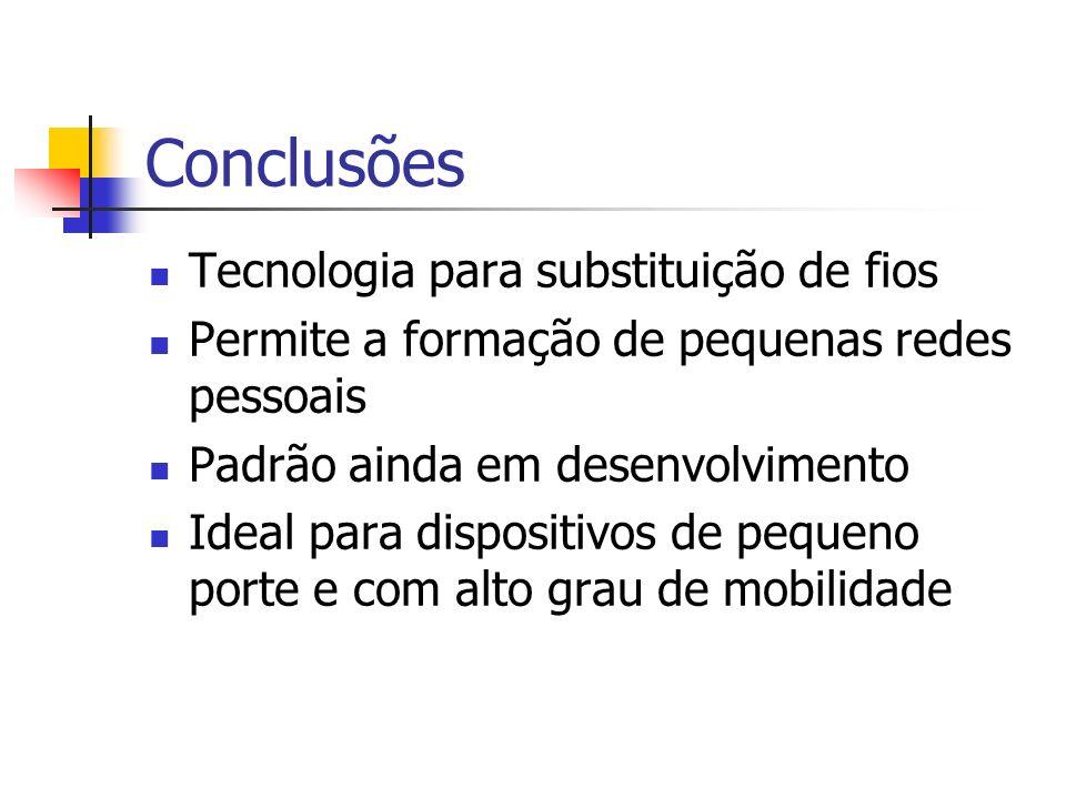 Conclusões Tecnologia para substituição de fios