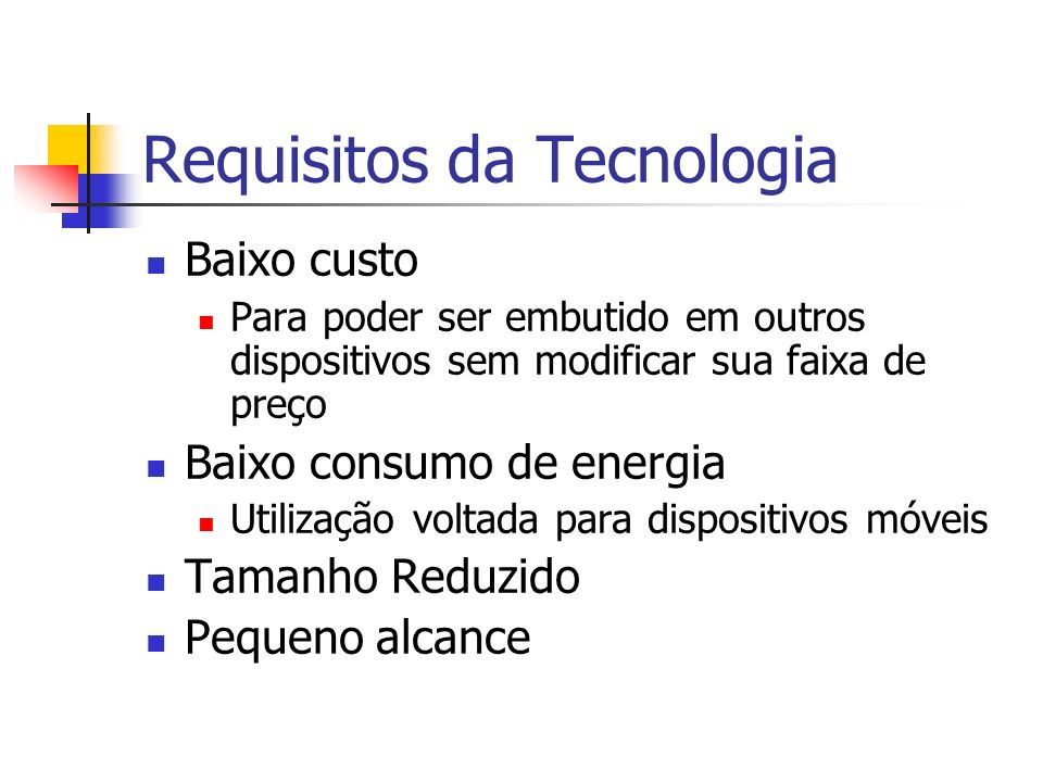 Requisitos da Tecnologia