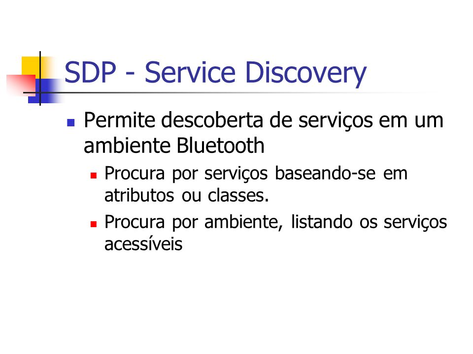 SDP - Service Discovery
