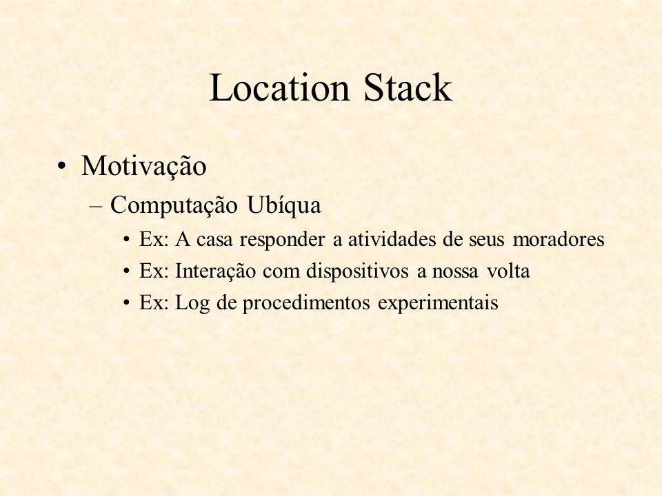 Location Stack Motivação Computação Ubíqua