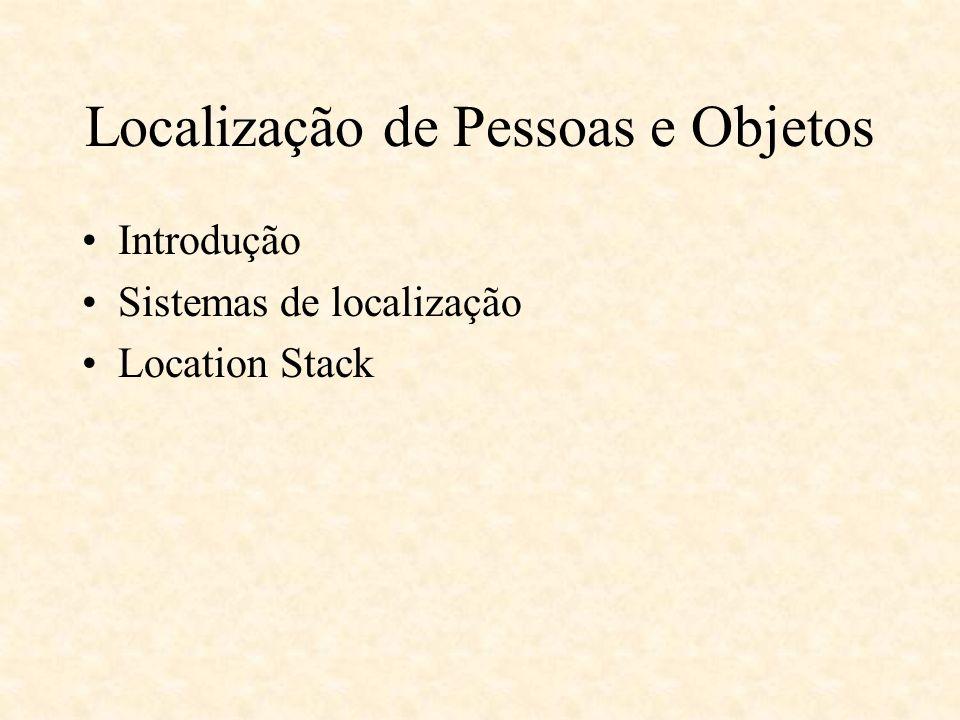 Localização de Pessoas e Objetos