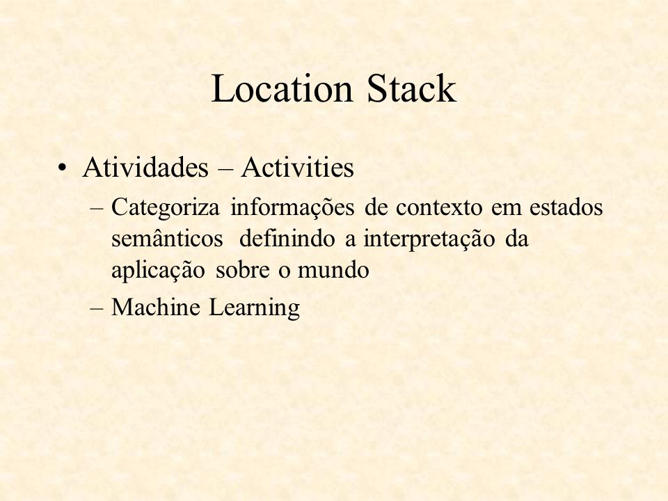 Location Stack Atividades – Activities
