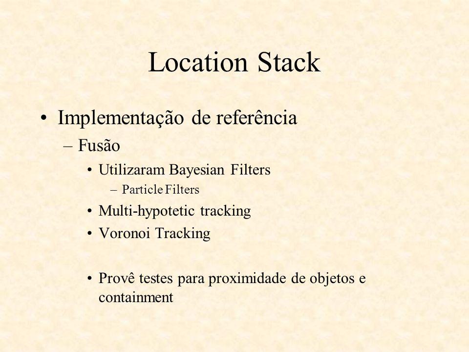 Location Stack Implementação de referência Fusão
