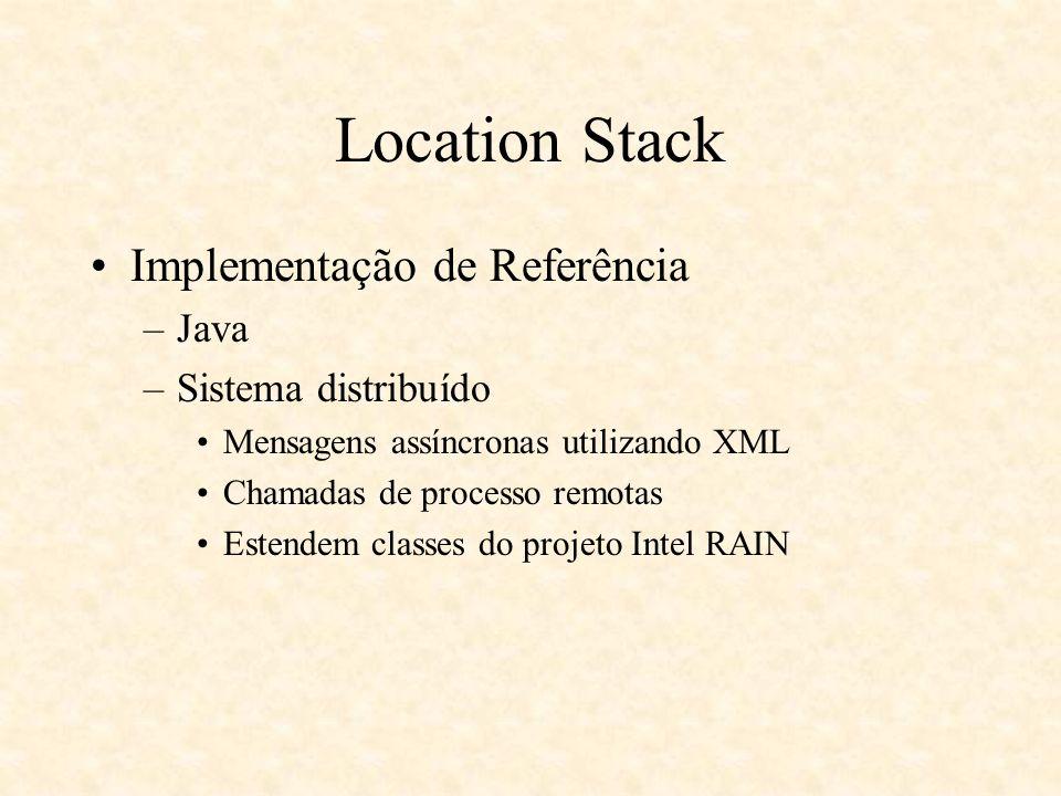 Location Stack Implementação de Referência Java Sistema distribuído