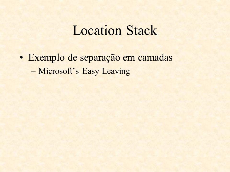 Location Stack Exemplo de separação em camadas