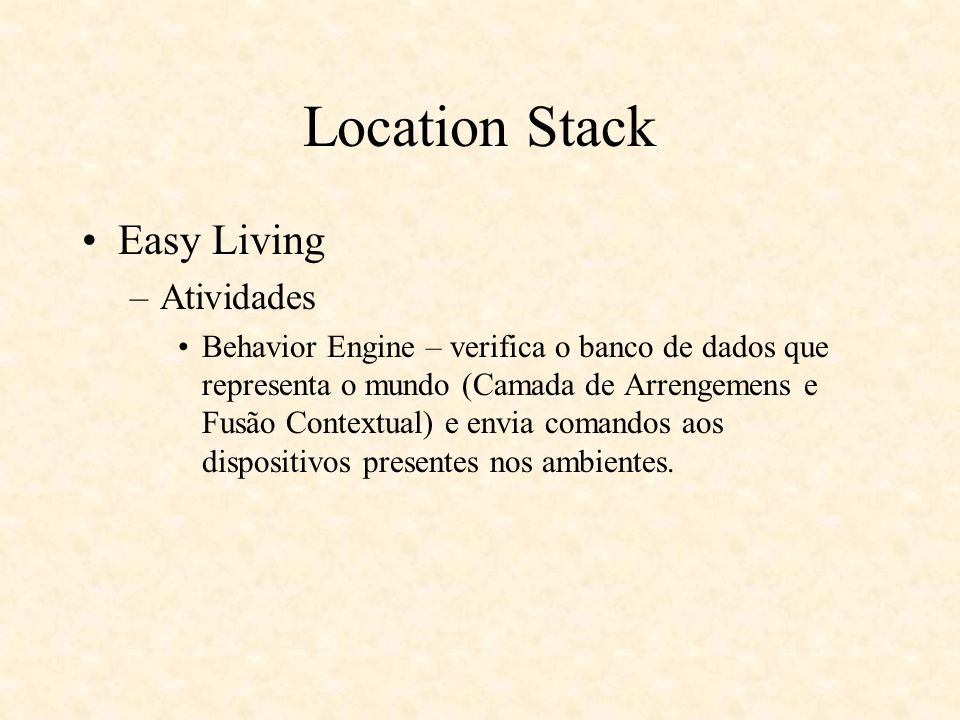Location Stack Easy Living Atividades