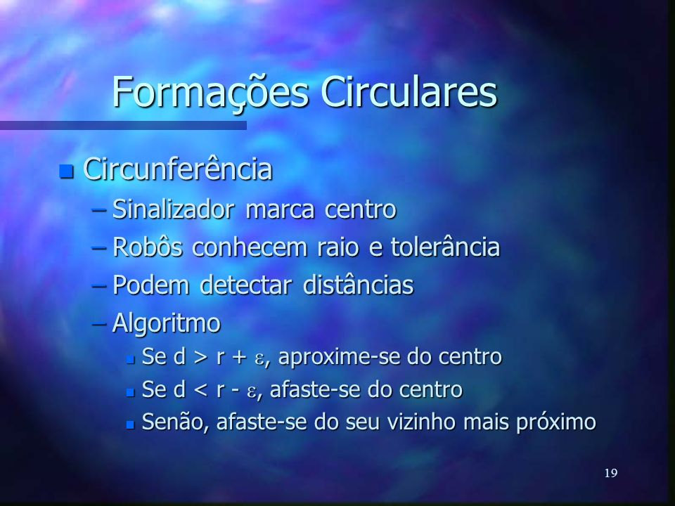 Formações Circulares Circunferência Sinalizador marca centro