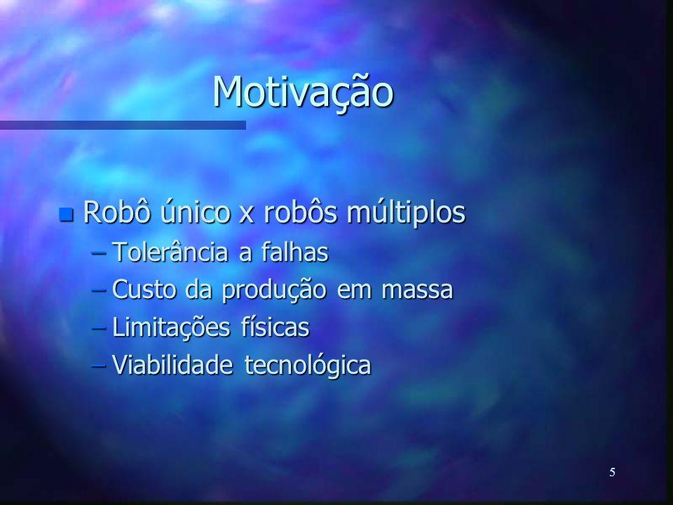 Motivação Robô único x robôs múltiplos Tolerância a falhas
