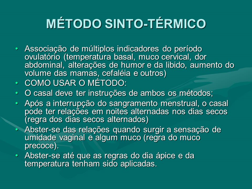 MÉTODO SINTO-TÉRMICO