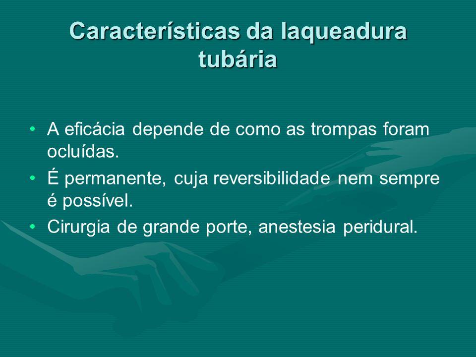 Características da laqueadura tubária