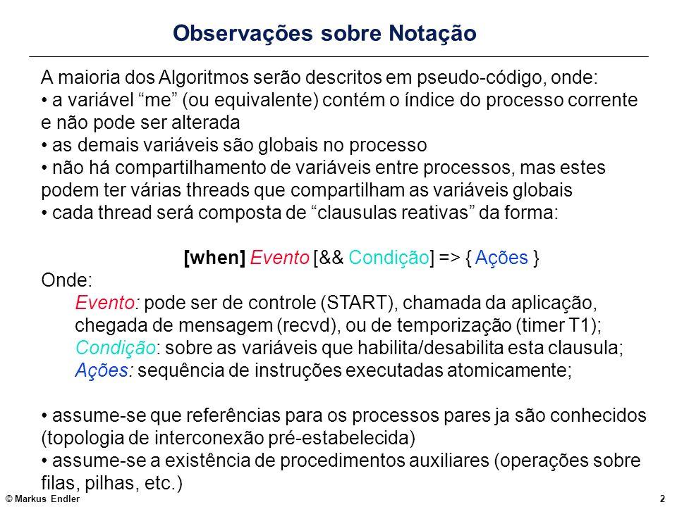 Observações sobre Notação