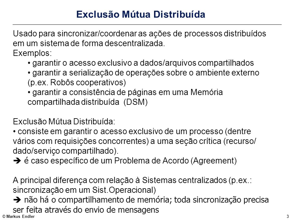 Exclusão Mútua Distribuída