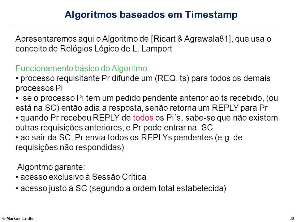 Algoritmos baseados em Timestamp