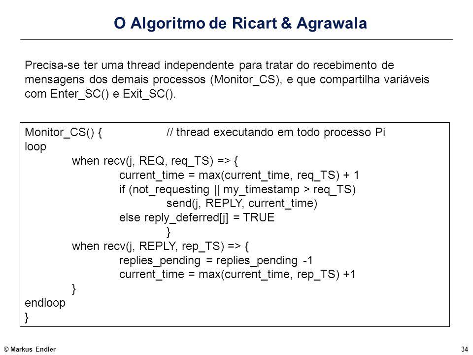 O Algoritmo de Ricart & Agrawala