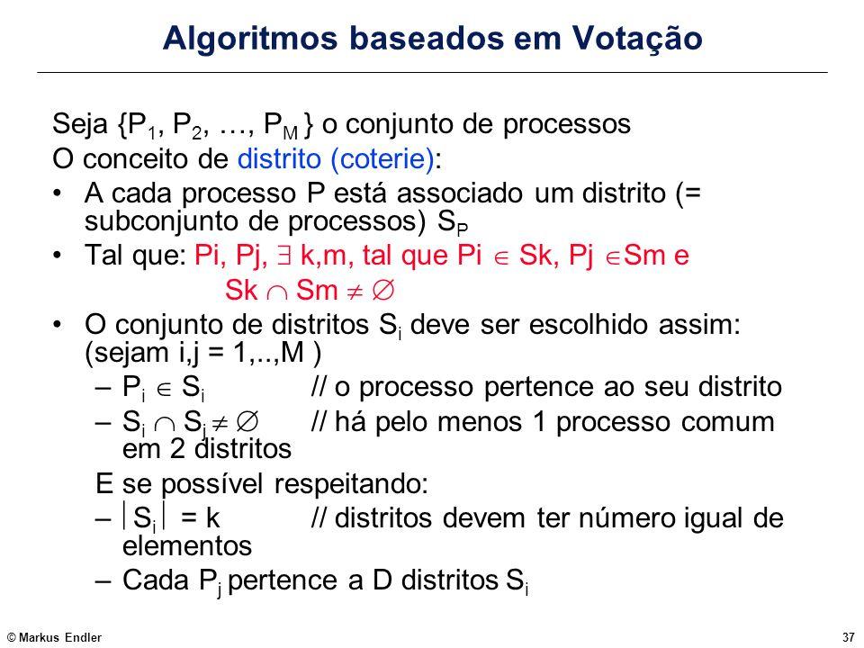 Algoritmos baseados em Votação