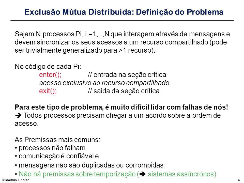Exclusão Mútua Distribuída: Definição do Problema