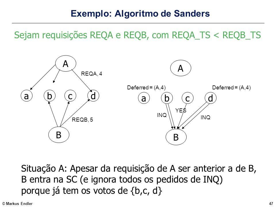 Exemplo: Algoritmo de Sanders