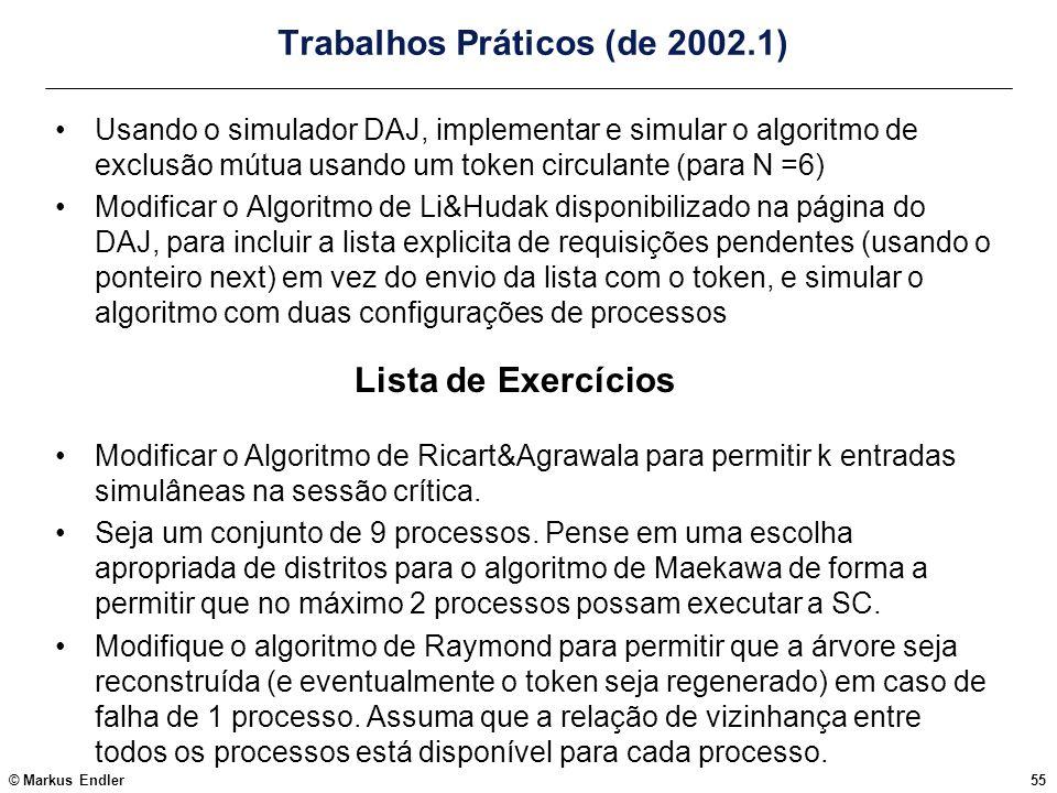 Trabalhos Práticos (de 2002.1)