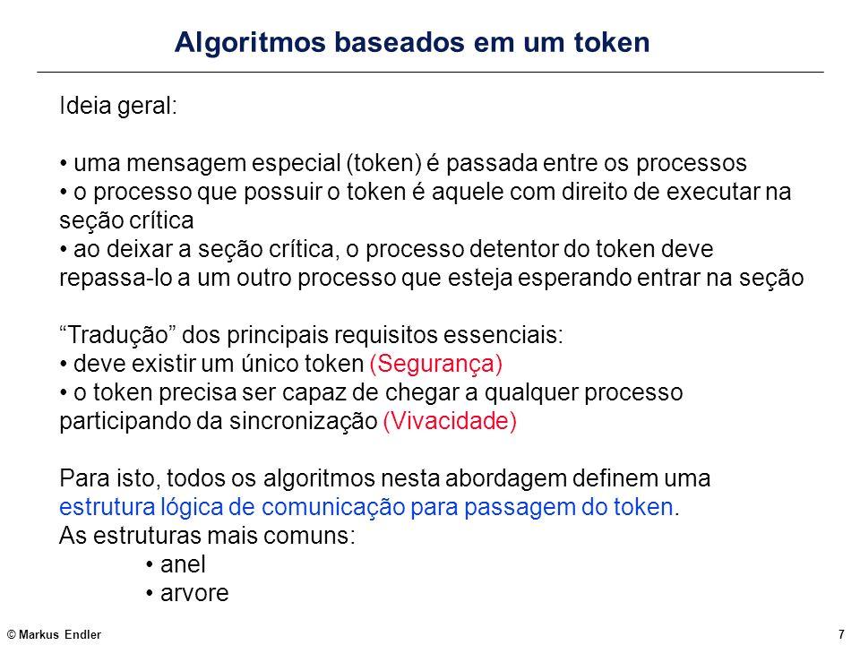 Algoritmos baseados em um token