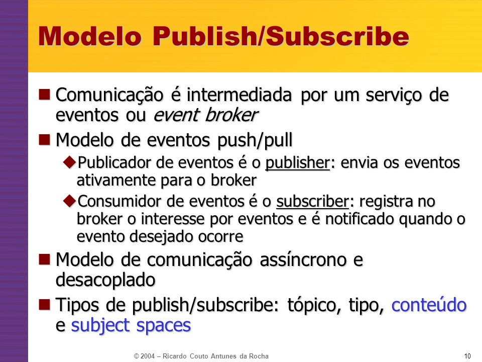 Modelo Publish/Subscribe