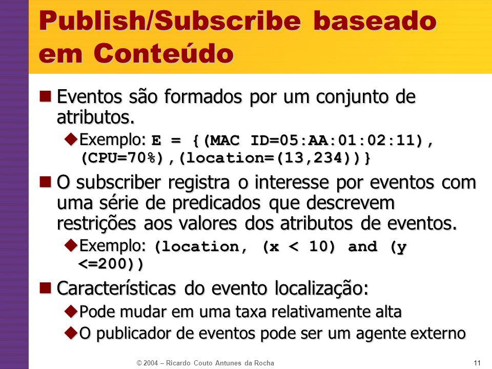 Publish/Subscribe baseado em Conteúdo