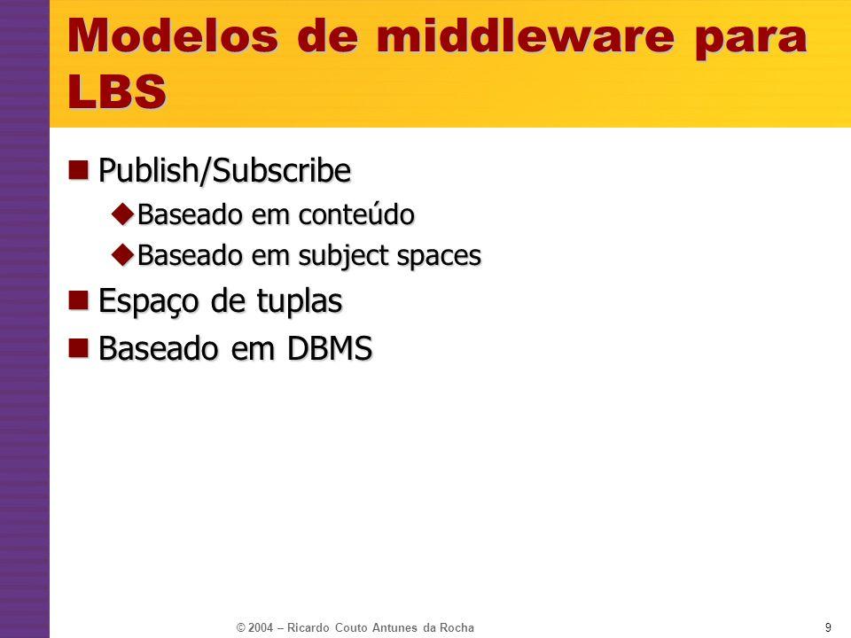 Modelos de middleware para LBS