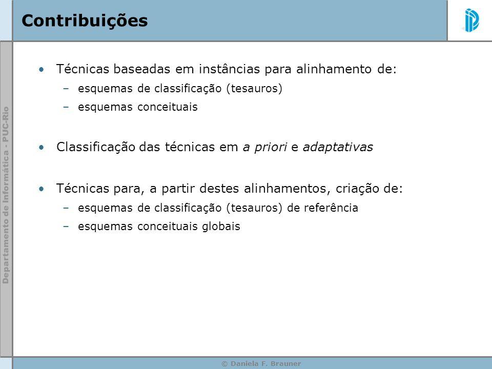 Contribuições Técnicas baseadas em instâncias para alinhamento de:
