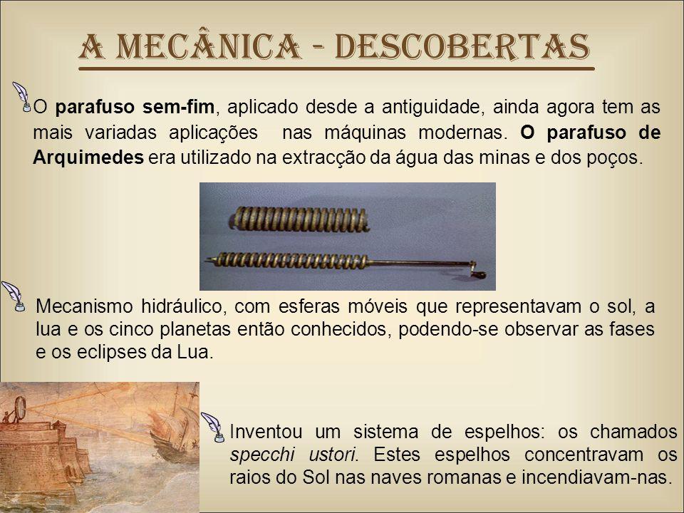 A Mecânica - DESCOBERTAS