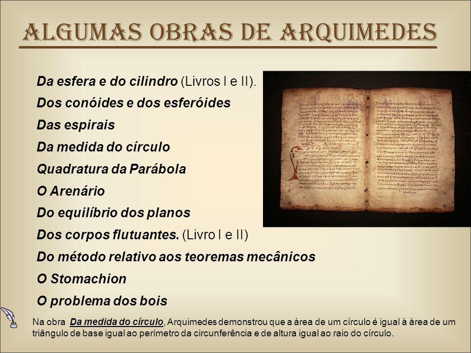 Algumas obras de Arquimedes