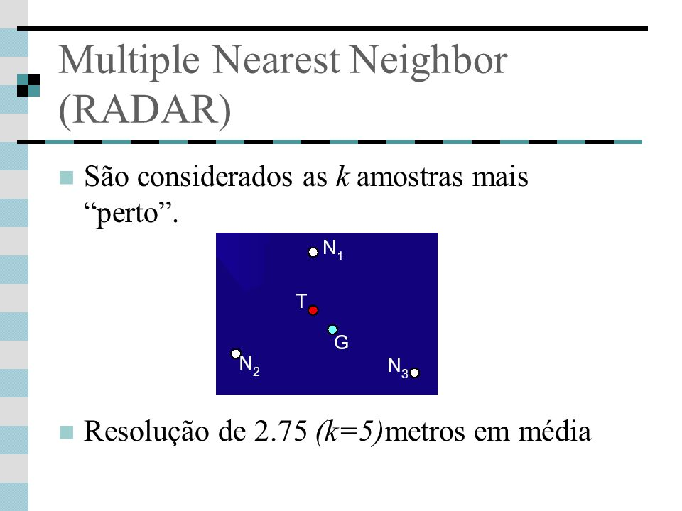 Multiple Nearest Neighbor (RADAR)