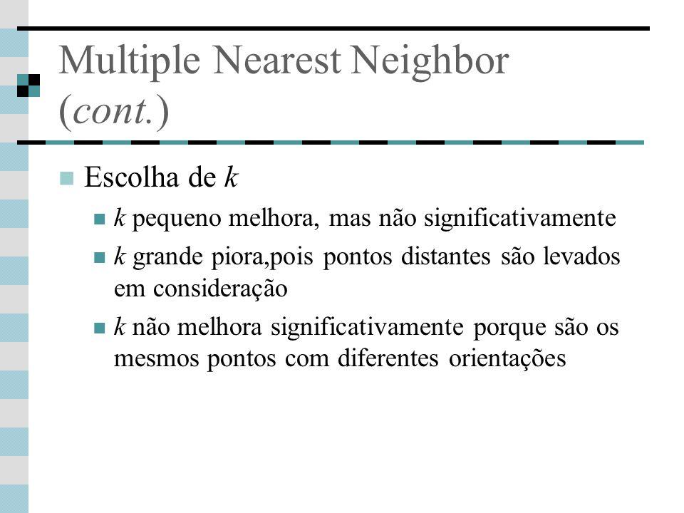 Multiple Nearest Neighbor (cont.)