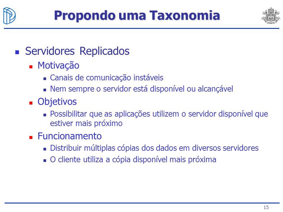 Propondo uma Taxonomia
