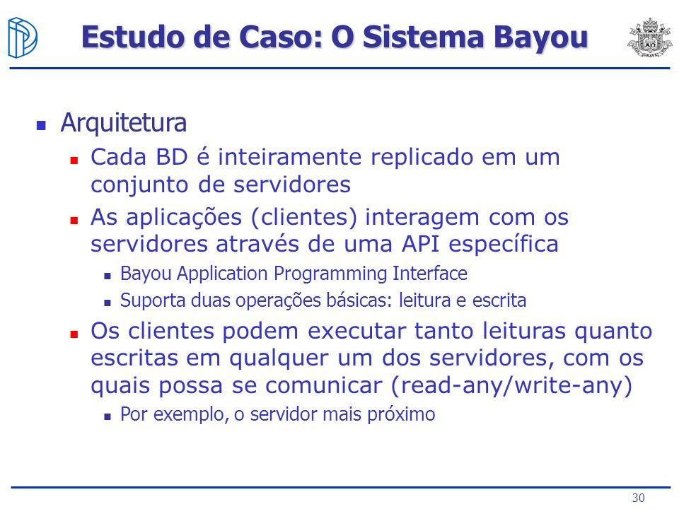 Estudo de Caso: O Sistema Bayou