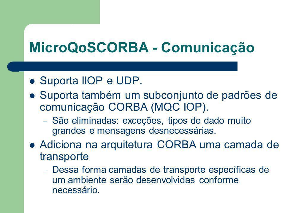 MicroQoSCORBA - Comunicação