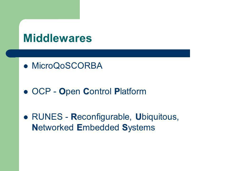 Middlewares MicroQoSCORBA OCP - Open Control Platform