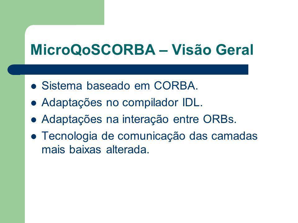 MicroQoSCORBA – Visão Geral